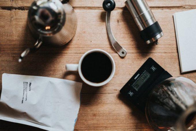 コーヒー豆 ドリップポット スケール ミル